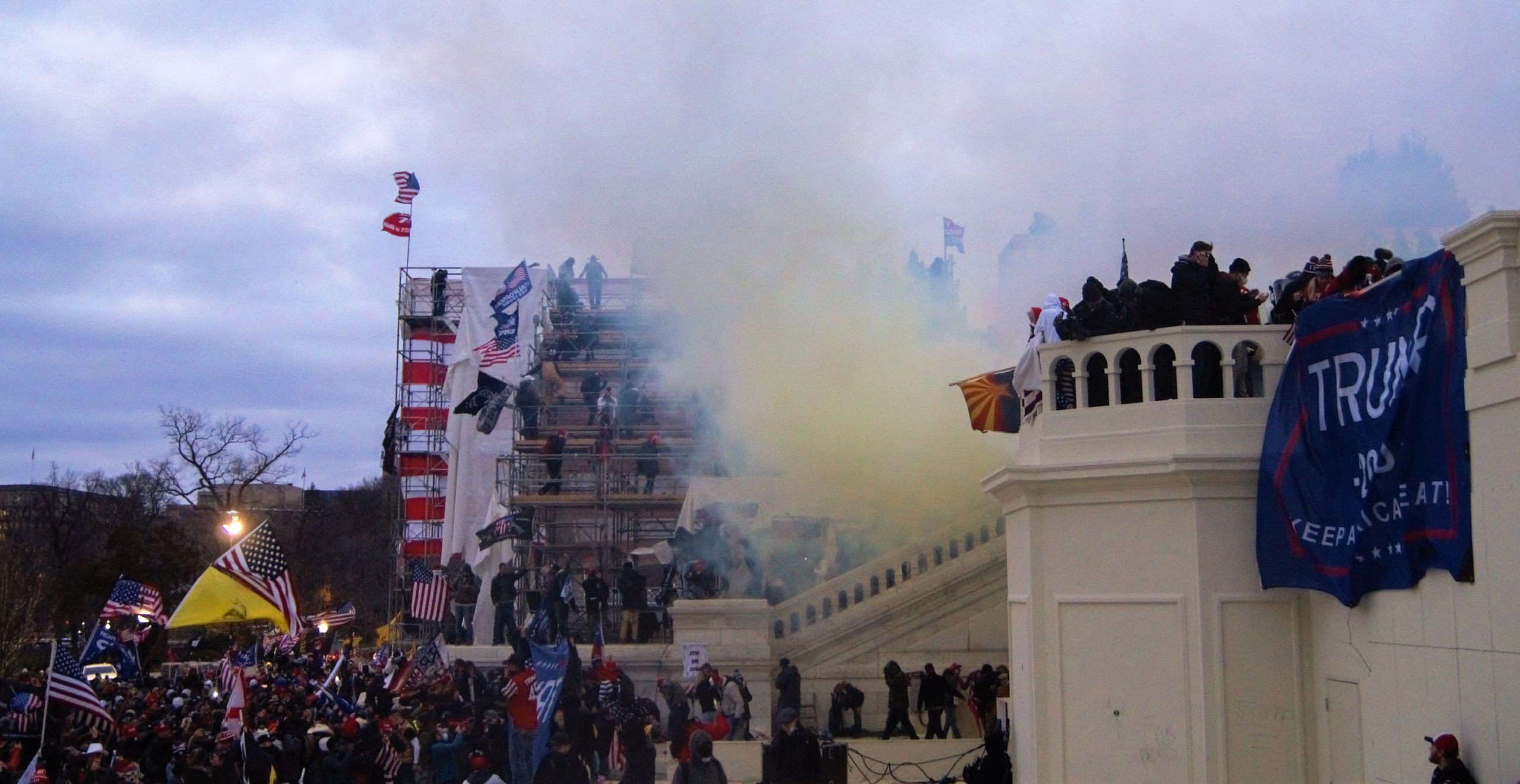 Tear Gas outside United States Capitol