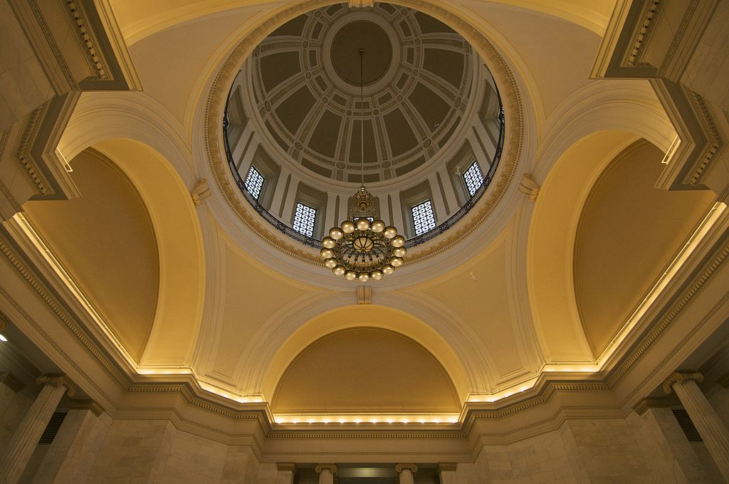 interior view of Arkansas capitol dome