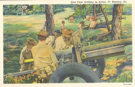 Columbus Museum_soldiers in action postcard