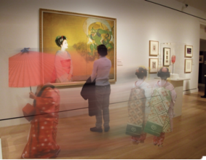 """Geisha: Beyond the Painted Smile."" Courtesy of the Peabody Essex Museum, Salem, MA Via  Center for the Future of Museums blog."