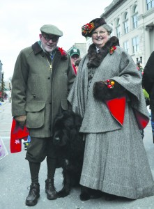 Ken and Ruth Cooper at home in Manistee, Michigan, helping out with the annual Victorian Sleighbell Parade.