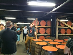 Copper and Kings, barrel room