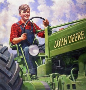 Boy Driving Tractor by Walter Haskell Hinton