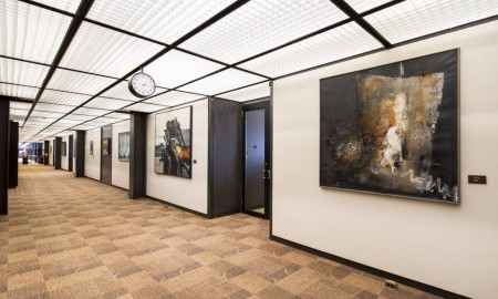 The main hallway at Deere & Co. World Headquarters