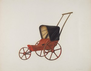 """Baby Carriage"" by Fred Hassebrock,  ca. 1935"
