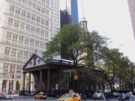 St. Paul's Chapel in Lower Manhattan, New York. Built 1764
