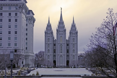 Salt Lake Temple  of the Church of Jesus Christ of Latter-day Saints. Built 1893.