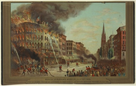 Burning of Barnum's Museum, July 13, 1865By C. P. Cranch, from the New York Public Library.