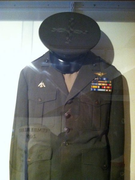 one-of-john-glenns-marine-corps-uniforms-displayed-at-the-john-and-annie-glenn-museum-a-photo-identifies-each-of-ribbons-over-the-right-breast-pocket-photo-courtesy-of-author
