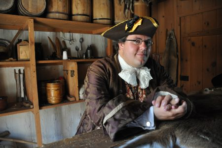 An interpreter at Mackinac State historic Parks, Michigan.