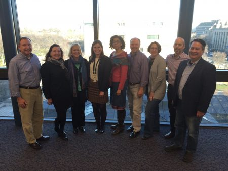 John Dichtl and other members of the Historic Relevance Campaign Steering Committee meet in DC in October 2016